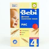 Bebi каша молочная рисовая с 4мес 200г