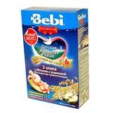 Bebi Prem каша молочн 3 злака с яблоком и ромашкой с 6мес 200г