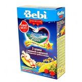 Bebi Prem каша молочн  3 злака с малиной и мелисой с 6мес 200гр