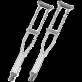 Костыли TRIVES ( подмышечные,цвет накладок серый) CA801LS