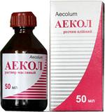 Аекол масл р-р 50мл(α-токоферола ацетат.бетакаротен.менадион,ретинол)